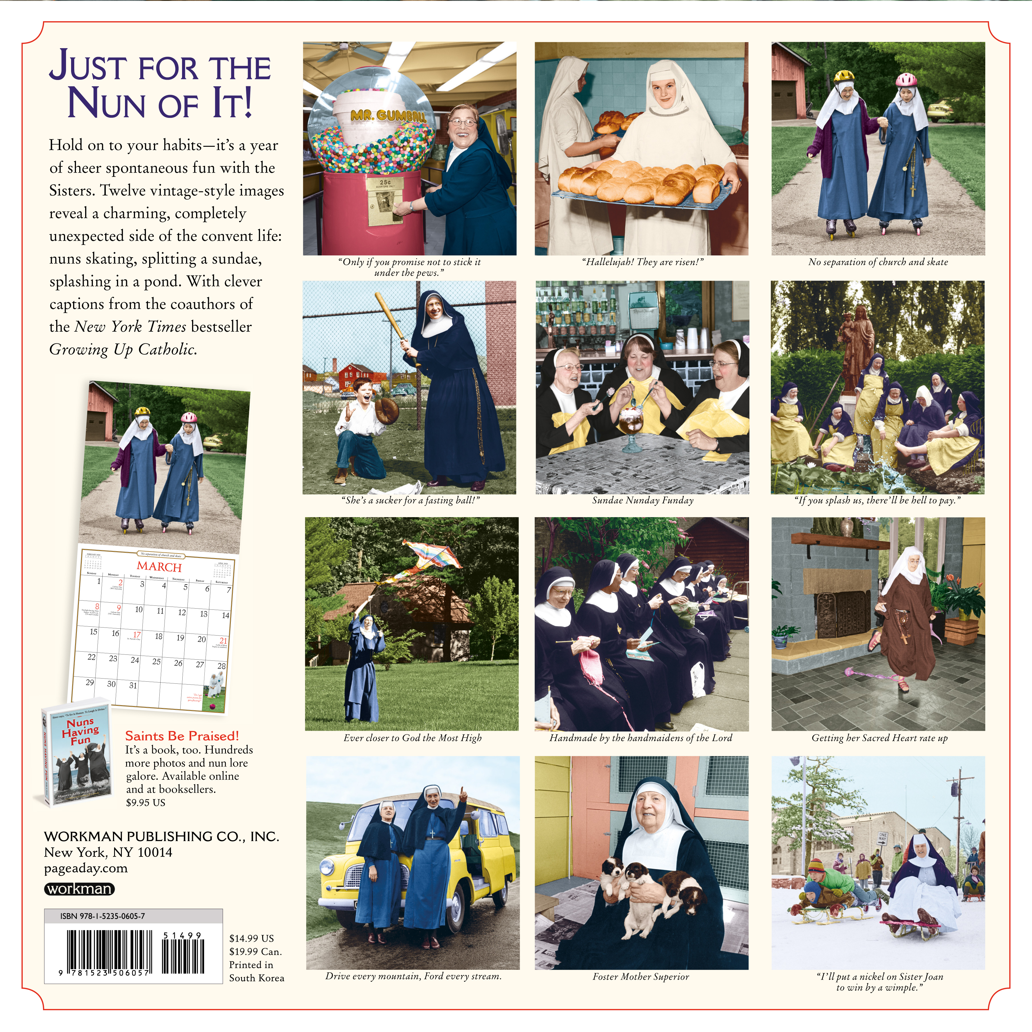 Calendrier Fun Car 2020.Nuns Having Fun Wall Calendar 2020