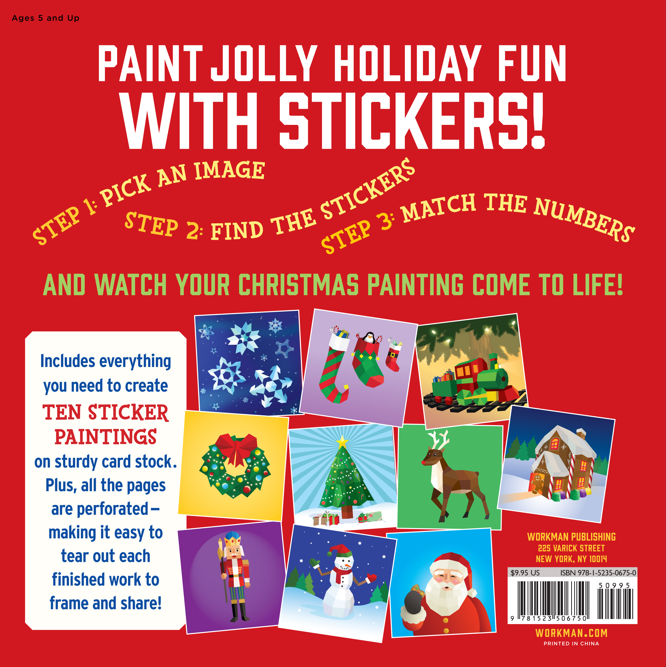 Christmas Paintings For Kids.Paint By Sticker Kids Christmas