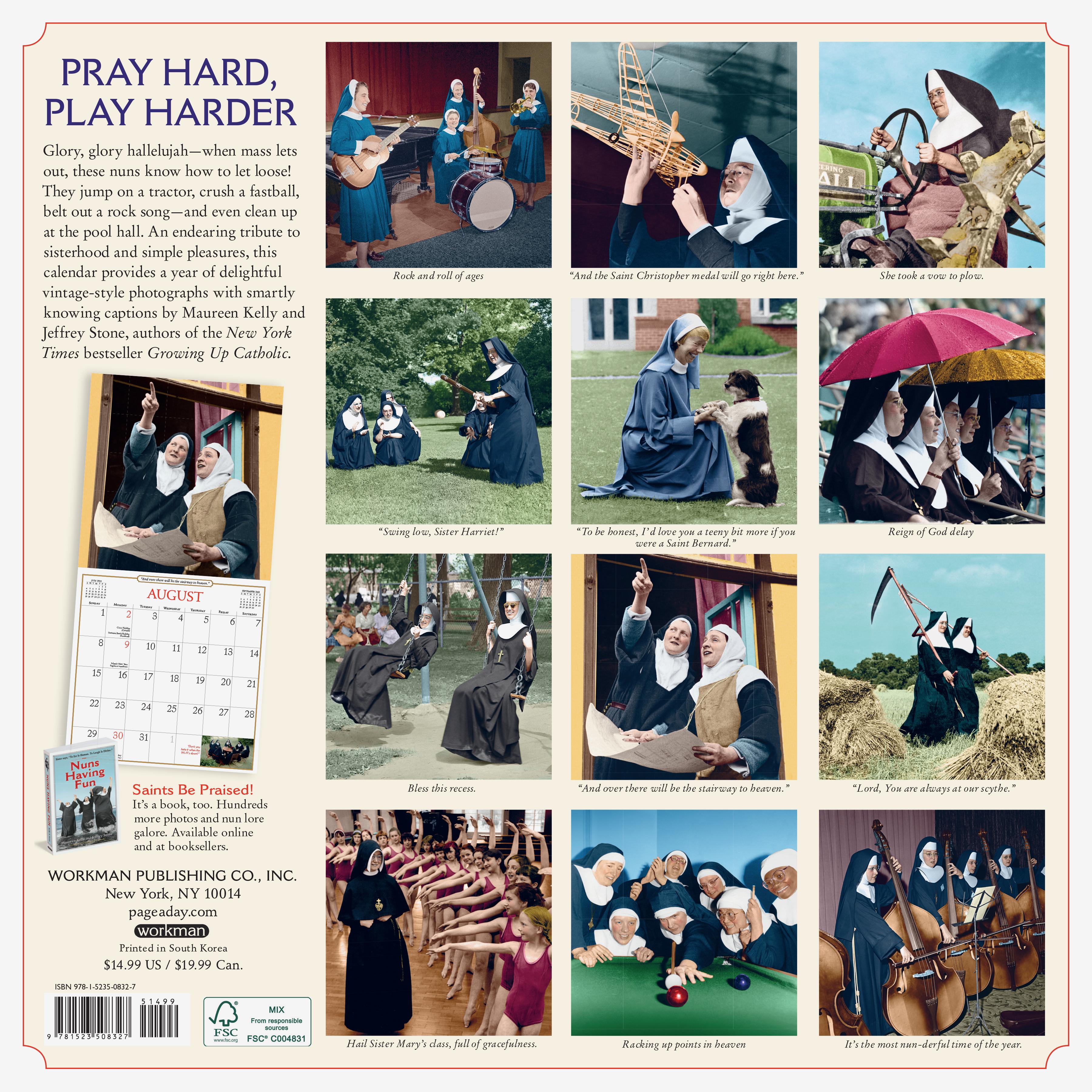 Nuns Having Fun 2021 Calendar Photos