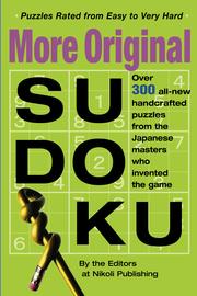More Original Sudoku - cover