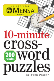 Mensa 10-Minute Crossword Puzzles - cover