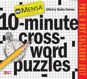 Mensa 10-Minute Crossword Puzzles Page-A-Day Calendar 2017 - cover