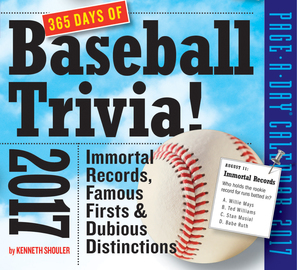 365 Days of Baseball Trivia! Page-A-Day Calendar 2017 - cover