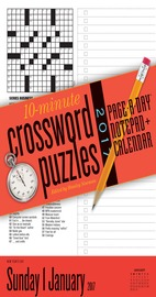 10-Minute Crossword Puzzles Notepad + Calendar 2017 - cover