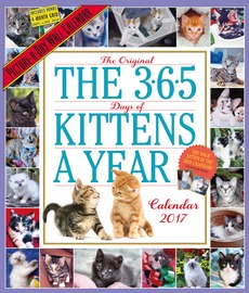 The 365 Kittens-A-Year Wall Calendar 2017 - cover