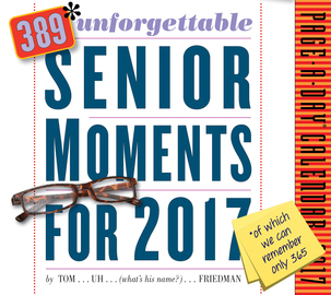 389* Unforgettable Senior Moments Page-A-Day Calendar 2017 - cover