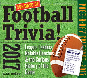 365 Days of Football Trivia! Page-A-Day Calendar 2017 - cover