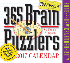 Mensa 365 Brain Puzzlers Page-A-Day Calendar 2017 - cover