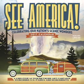 See America! Wall Calendar 2017 - cover