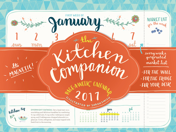 The Kitchen Companion Page-A-Week Calendar 2017 - cover
