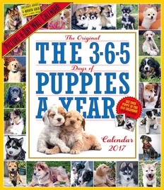 The 365 Puppies-A-Year Picture-A-Day Wall Calendar 2017 - cover