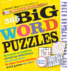 365 Big Word Puzzles Page-A-Day Calendar 2017 - cover