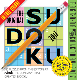 The Original Sudoku Page-A-Day Calendar 2017 - cover