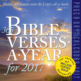 365 Bible Verses-A-Year Page-A-Day Calendar 2017 - cover
