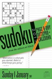 Sudoku Notepad + Calendar 2017 - cover