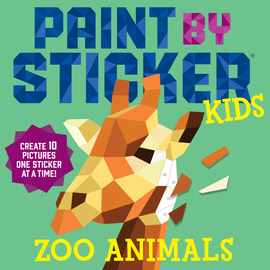 Paint by Sticker Kids: Zoo Animals - cover