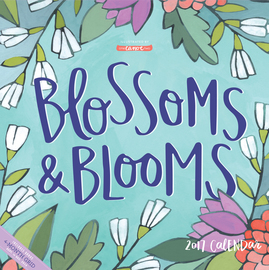Blossoms & Blooms Wall Calendar 2017 - cover