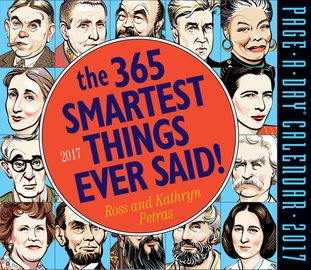 The 365 Smartest Things Ever Said! Page-A-Day Calendar 2017 - cover