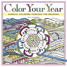 Color Your Year Wall Calendar 2017 - cover