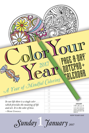 Color Your Year Notepad + Calendar 2017 - cover