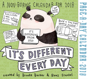It's Different Every Day Page-A-Day Calendar 2018 - cover