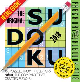 The Original Sudoku Page-A-Day Calendar 2018 - cover