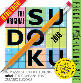 The Original Sudoku Page-A-Day Calendar 2018 - cover