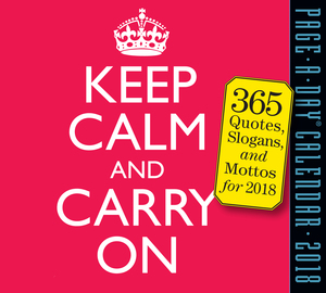 Keep Calm and Carry On Page-A-Day Calendar 2018 - cover