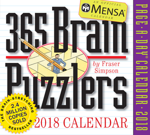 Mensa 365 Brain Puzzlers Page-A-Day Calendar 2018 - cover