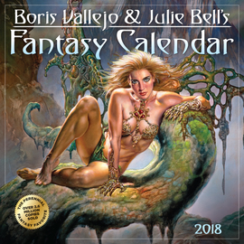Boris Vallejo & Julie Bell's Fantasy Wall Calendar 2018 - cover