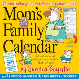 Mom's Family Wall Calendar 2018 - cover