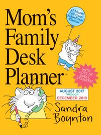 Mom's Family Desk Planner Calendar 2018 - cover