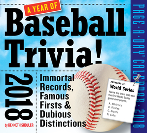 A Year of Baseball Trivia! Page-A-Day Calendar 2018 - cover