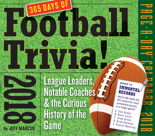 A Year of Football Trivia! Page-A-Day Calendar 2018 - cover