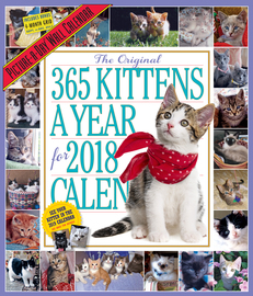 The 365 Kittens-A-Year Picture-A-Day Wall Calendar 2018 - cover