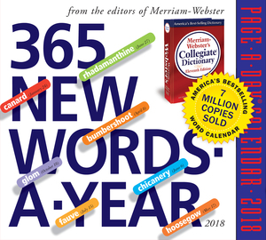 365 New Words-A-Year Page-A-Day Calendar 2018 - cover