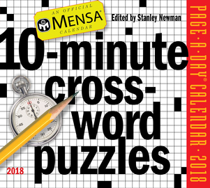 Mensa 10-Minute Crossword Puzzles Page-A-Day Calendar 2018 - cover