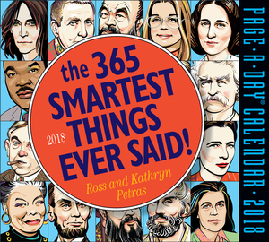 The 365 Smartest Things Ever Said! Page-A-Day Calendar 2018 - cover