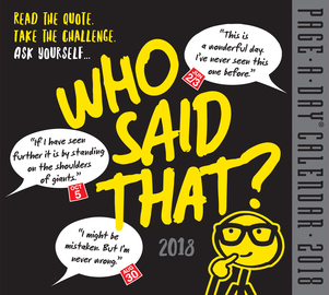 Who Said That? Page-A-Day Calendar 2018 - cover