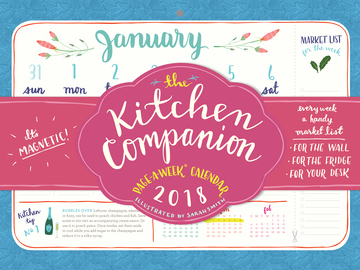The Kitchen Companion Page-A-Week Calendar 2018 - cover