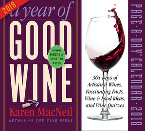 A Year of Good Wine Page-A-Day Calendar 2018 - cover