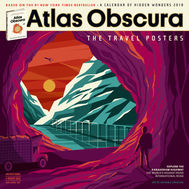 Atlas Obscura Wall Calendar 2018 - cover
