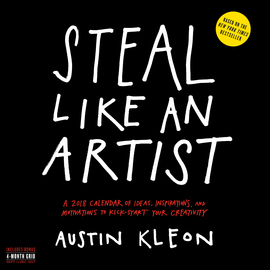 Steal Like an Artist Wall Calendar 2018 - cover