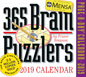 Mensa 365 Brain Puzzlers Page-A-Day Calendar 2019 - cover