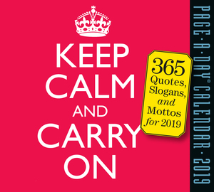 Keep Calm and Carry On Page-A-Day Calendar 2019 - cover