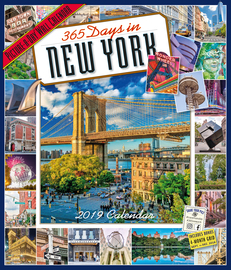 365 Days in New York Picture-A-Day Wall Calendar 2019 - cover