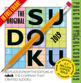 The Original Sudoku Page-A-Day Calendar 2019 - cover