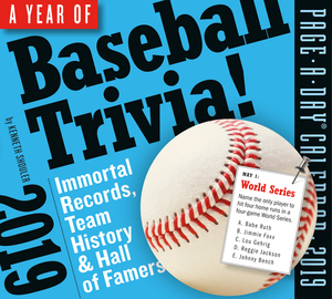 A Year of Baseball Trivia! Page-A-Day Calendar 2019 - cover