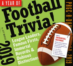 A Year of Football Trivia! Page-A-Day Calendar 2019 - cover