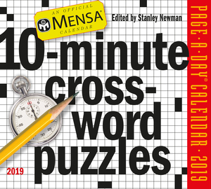 Mensa 10-Minute Crossword Puzzles Page-A-Day Calendar 2019 - cover